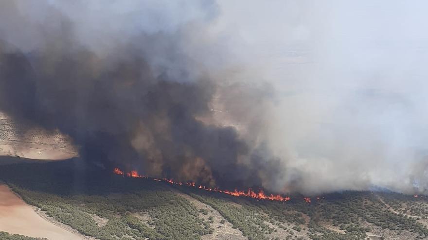 Declarado un incendio forestal en Belalcázar