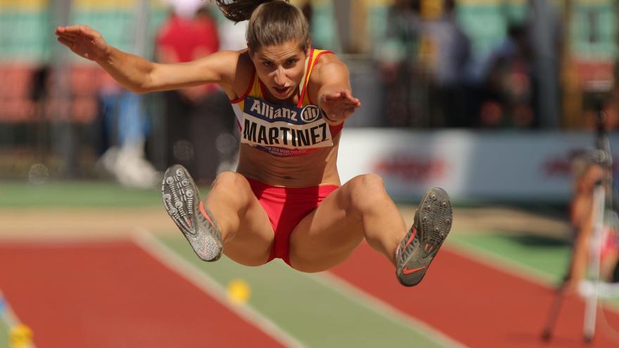 La española Sara Martínez logra la medalla de plata en el salto de longitud T12