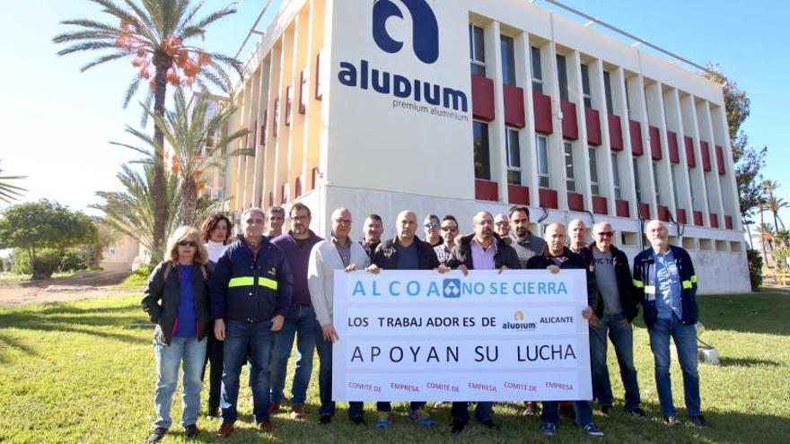 Solidaridad desde Alicante con los trabajadores de Alcoa