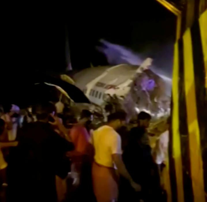 Accidente de avión en Calcuta (India).