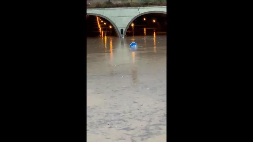 Carreteras cortadas en Valencia por las lluvias