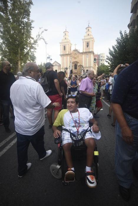 La Fuensanta baja en romería hasta la Catedral