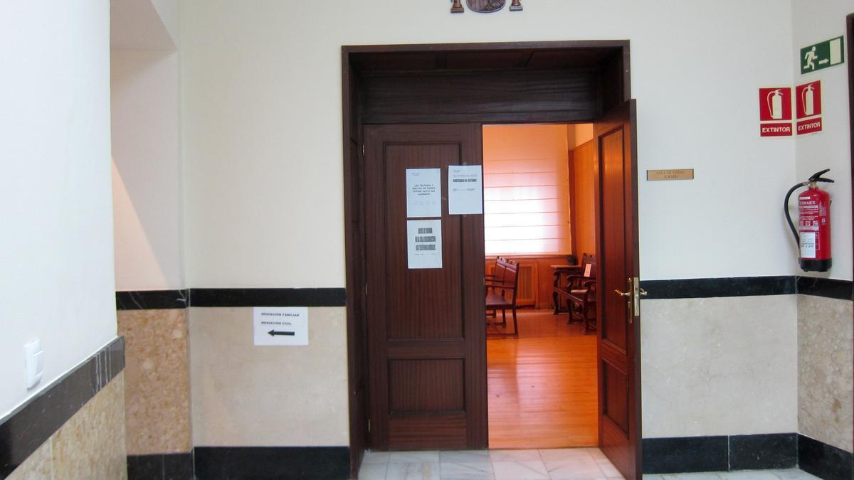 Sala de vistas de la Audiencia de Valladolid