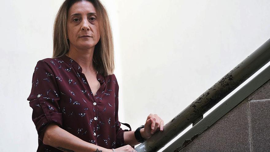 Penélope Martínez, horas antes de celebrarse el juicio por el asesinato de su hijo de acogida, cometido el 30 de agosto de 2017. | ÁXEL ÁLVAREZ