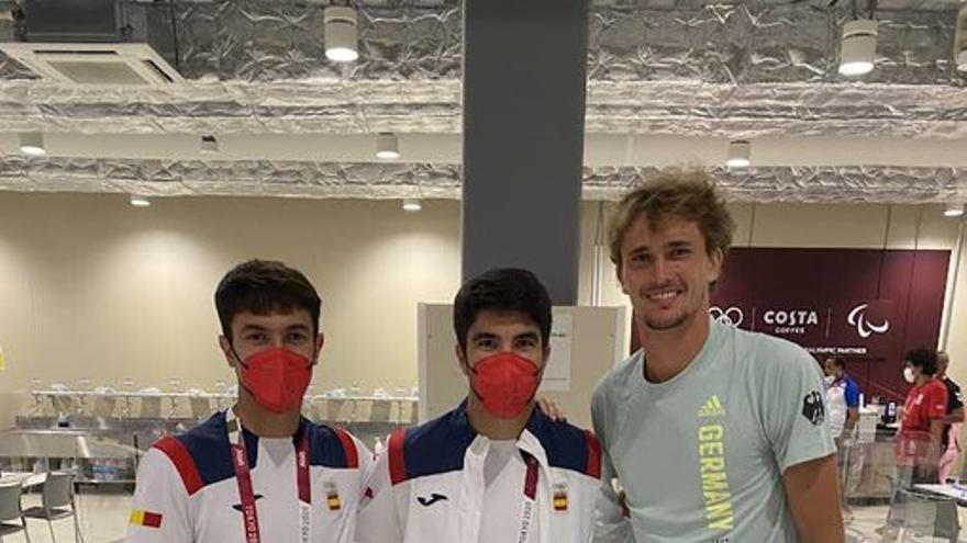 La imagen de Carlos Soler con un oro olímpico
