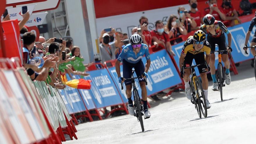 Roglic le gana el reto a Enric Mas en el muro de Valdepeñas