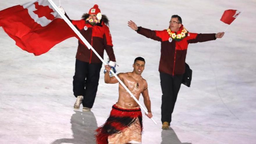 L'abanderat de Tonga, estrella de la inauguració dels Jocs a PyeongChang 2018