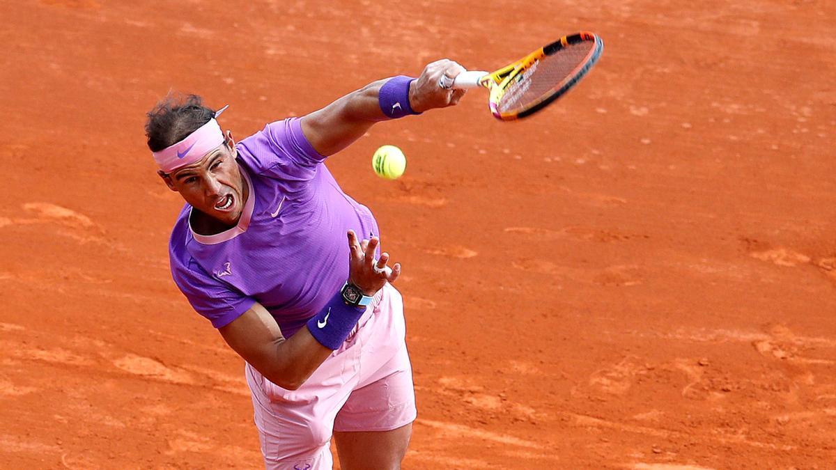 Una imagen de Rafa Nadal en el Masters 100 de Montecarlo.