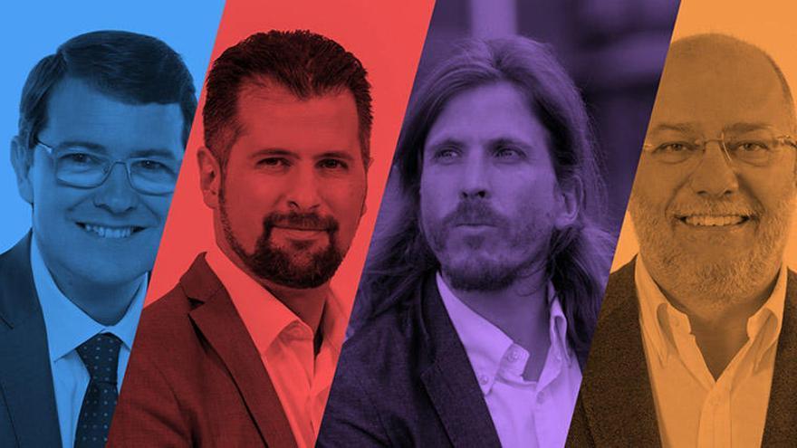 Los cuatro principales partidos participan hoy en el primer debate electoral de Castilla y León