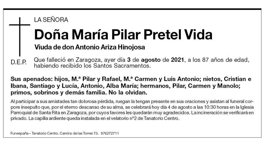 María Pilar Pretel Vida