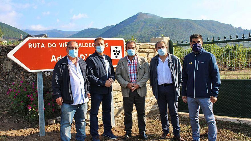 Las Rutas del Vino de Monterrei, Ribeira Sacra y Valdeorras unifican su señalización