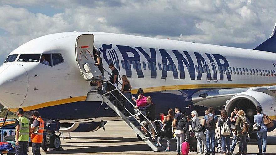 Preocupació en el sector de l'hostaleria per la reducció de vols de Ryanair