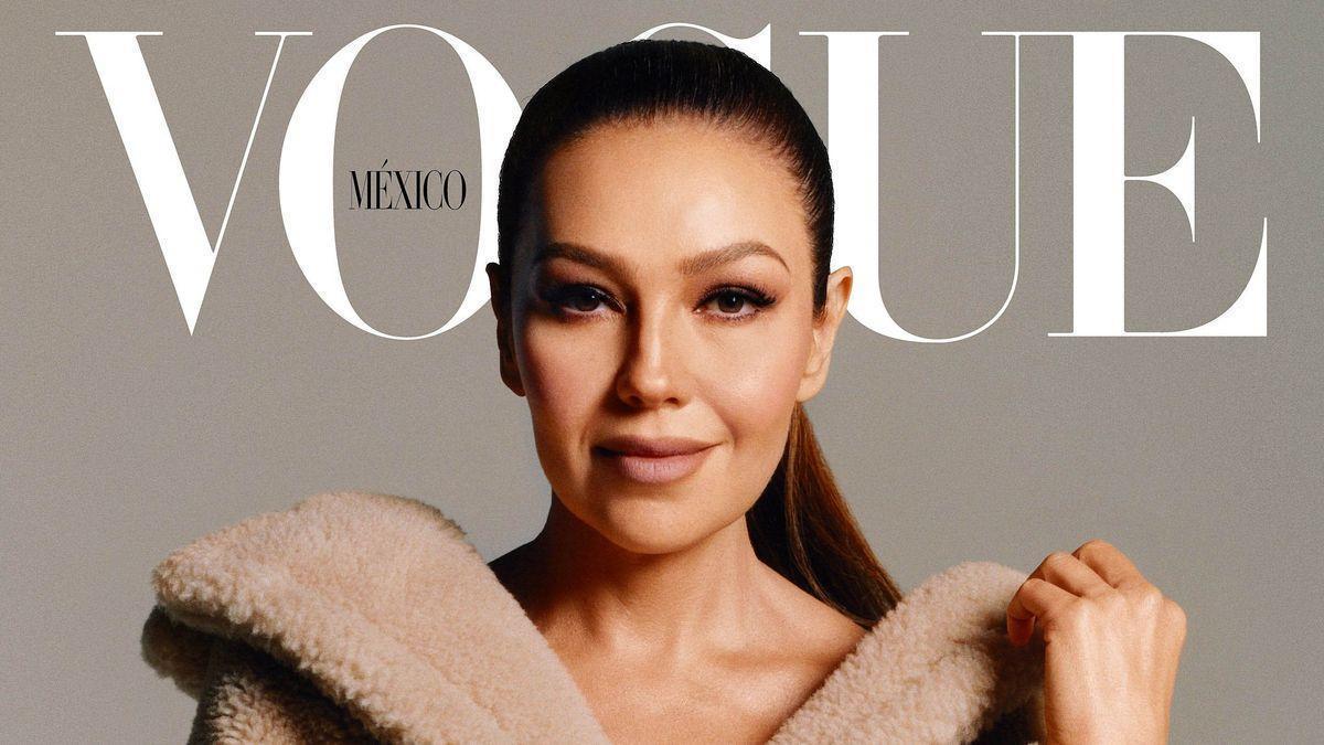 Thalía cumple su sueño de ser portada de Vogue