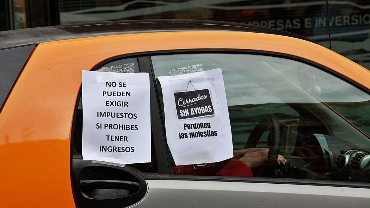 Protesta de la restauración convocada por la asociación ABRE.