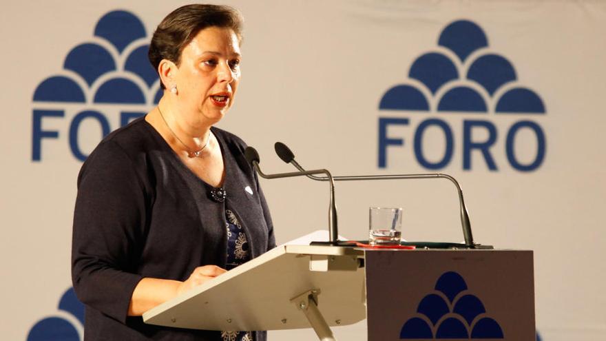 """Una senadora asturiana pide a los ciudadanos que voten a gobernantes que contengan """"la riada sececionista"""""""