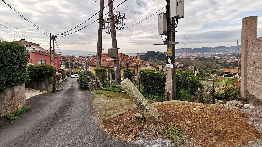 Vecinos de Tirán solicitan que el Concello marque el límite con Cangas en A Pedreira