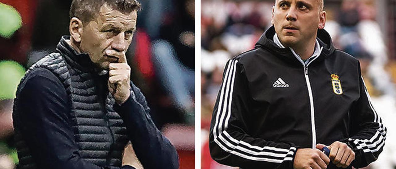 Djukic y Rozada, en la última jornada de Liga.