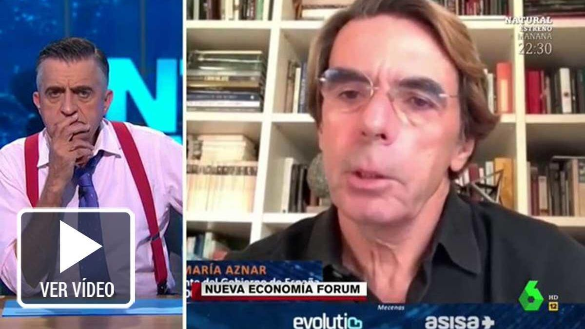 El Gran Wyoming opina sobre la intervención de Aznar.
