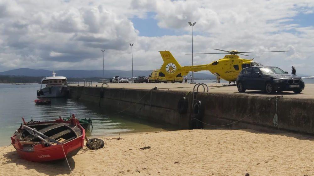 El marinero falleció pese a los esfuerzos de los sanitarios por salvarle la vida