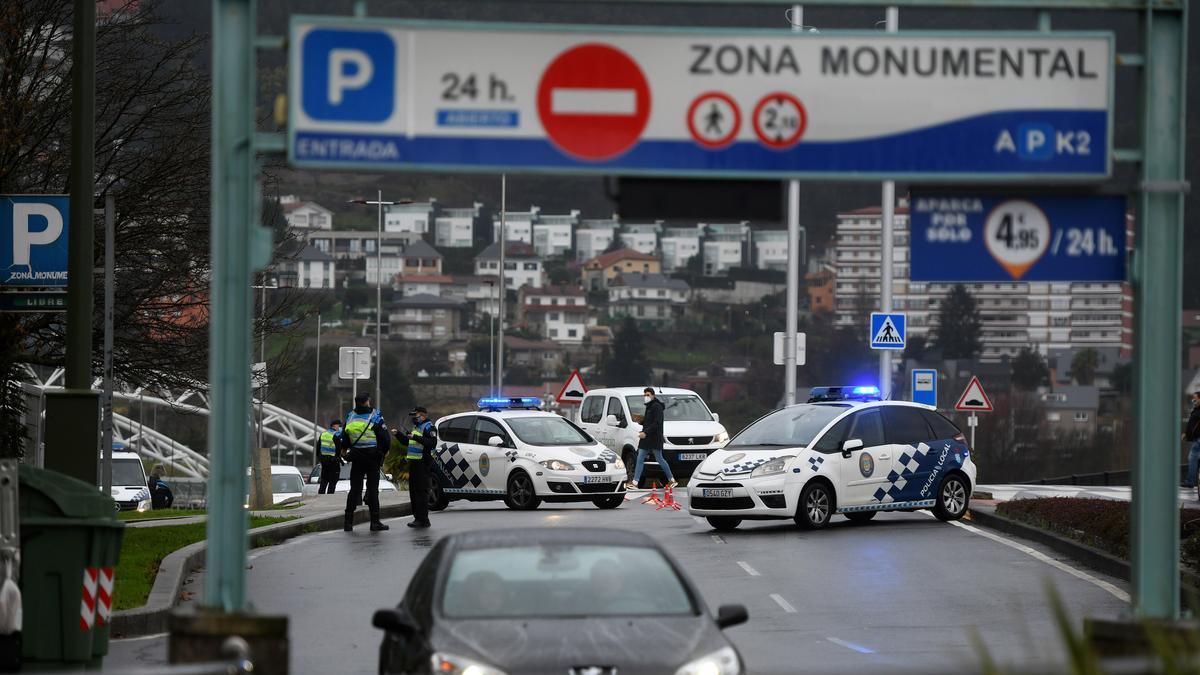 Control de la Policía Local de Pontevedra.