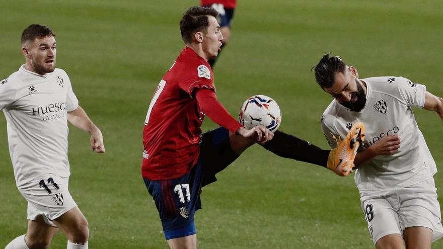 Un empate lastra a Osasuna y Huesca