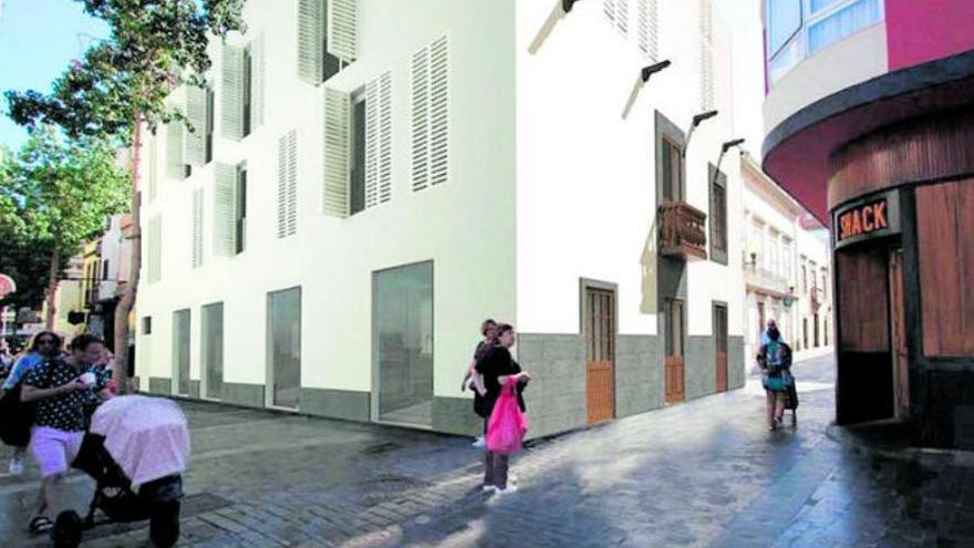 El nuevo edificio de Cano con Torres respeta la fachada del viejo caserón