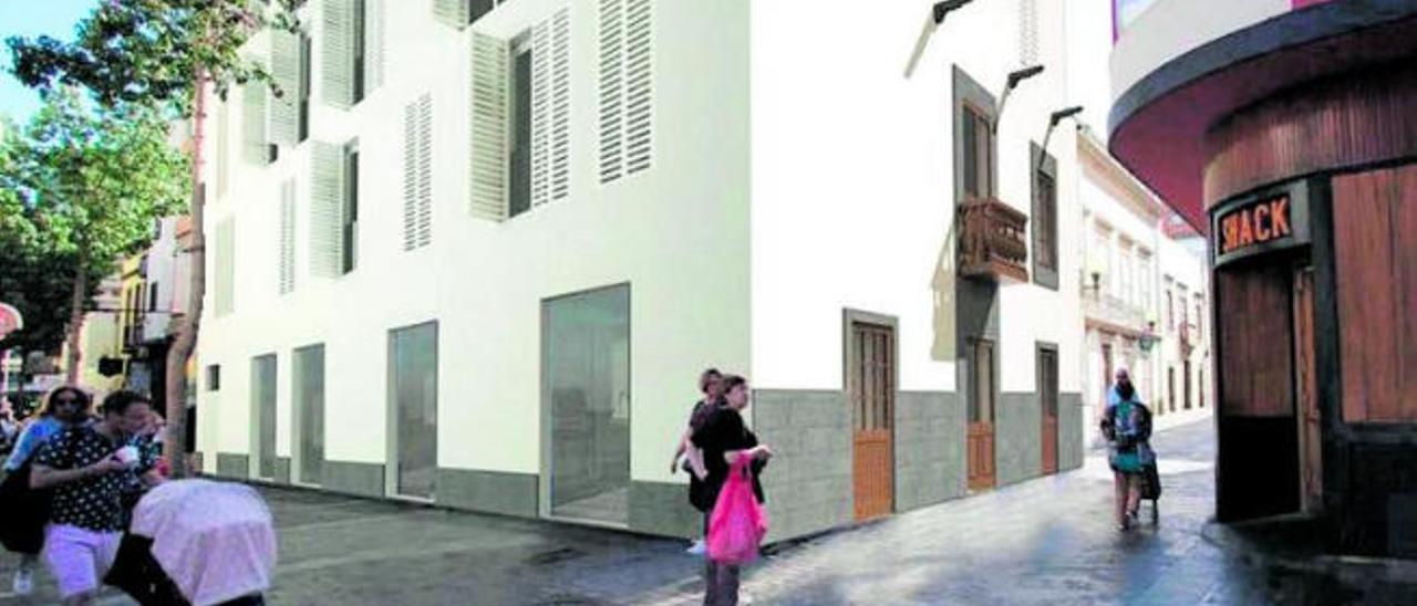 Recreación de cómo quedará el caserón de la calle Cano con Torres tras la remodelación del arquitecto Ancor Monzón.