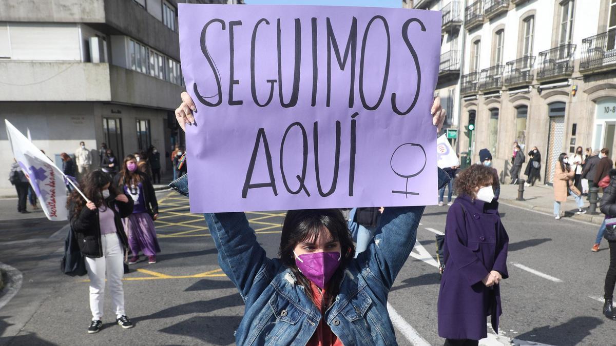 Manifestación del 8M en Santiago de Compostela