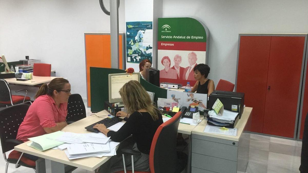 Una oficina del Servicio Andaluz de Empleo.