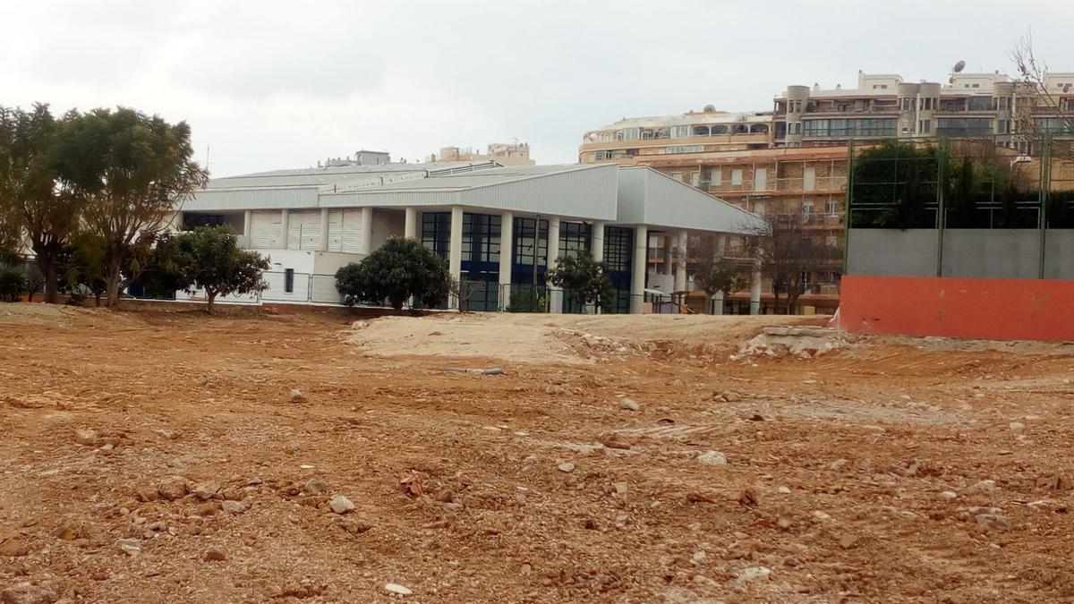 La parcela tras la demolición del antiguo colegio Gargasindi