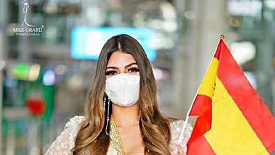 Iris Miguélez Méndez, en Bangkok para Miss Grand International