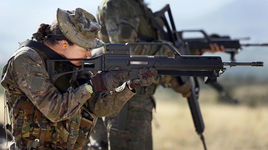 Los Marines estadounidenses participan en las maniobras de los boinas verdes españoles