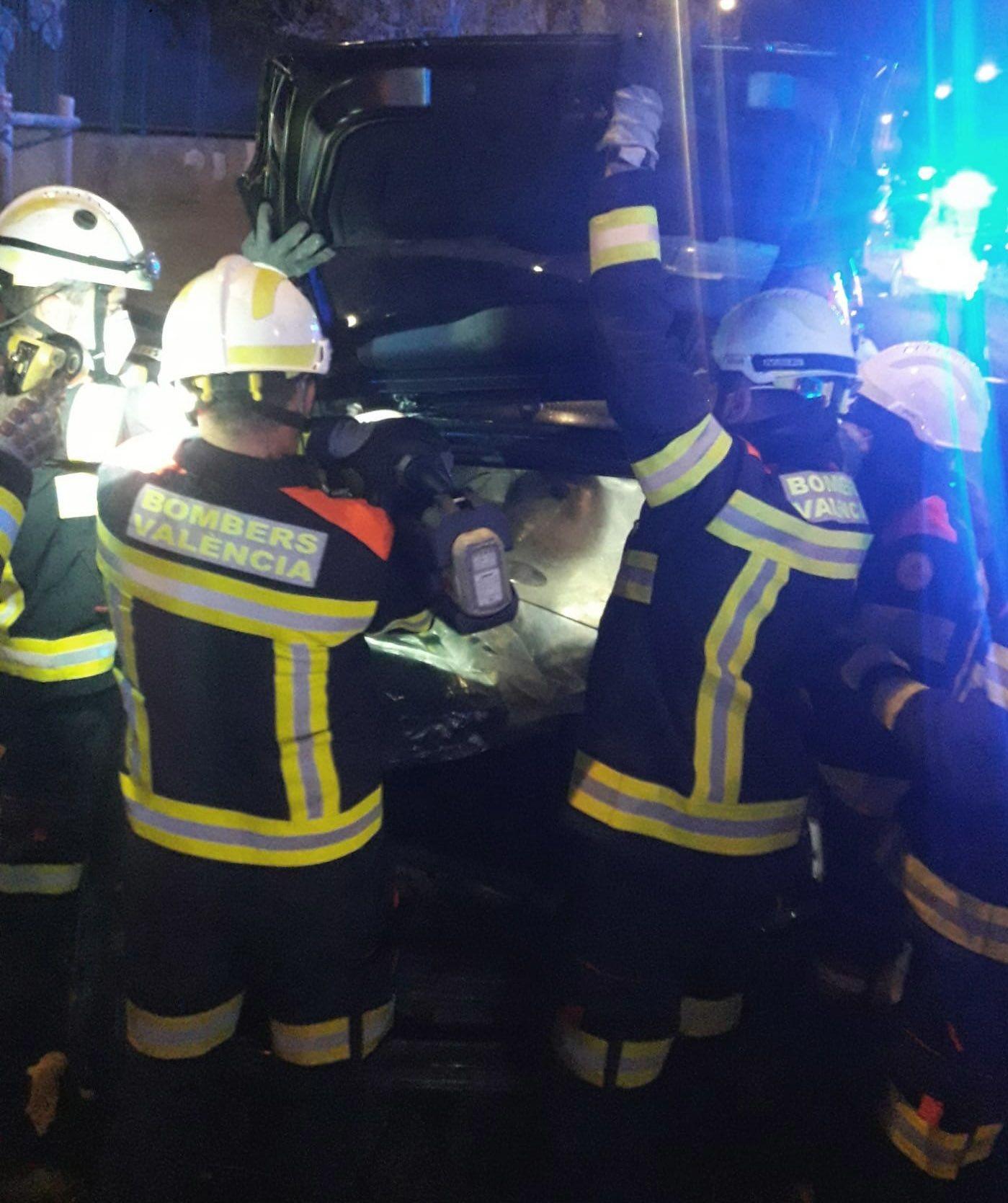 Accidente en la avenida Baleares de València
