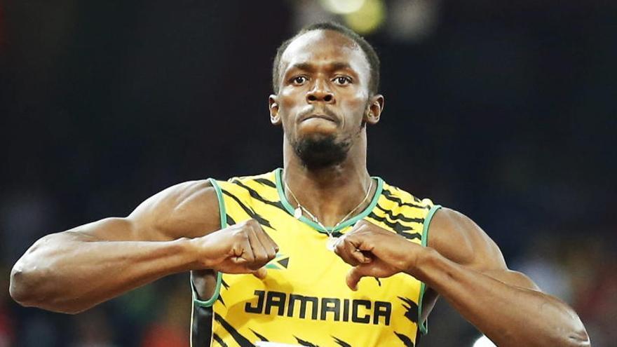 Bolt elige a los tres futbolistas con los que correría un 4x100