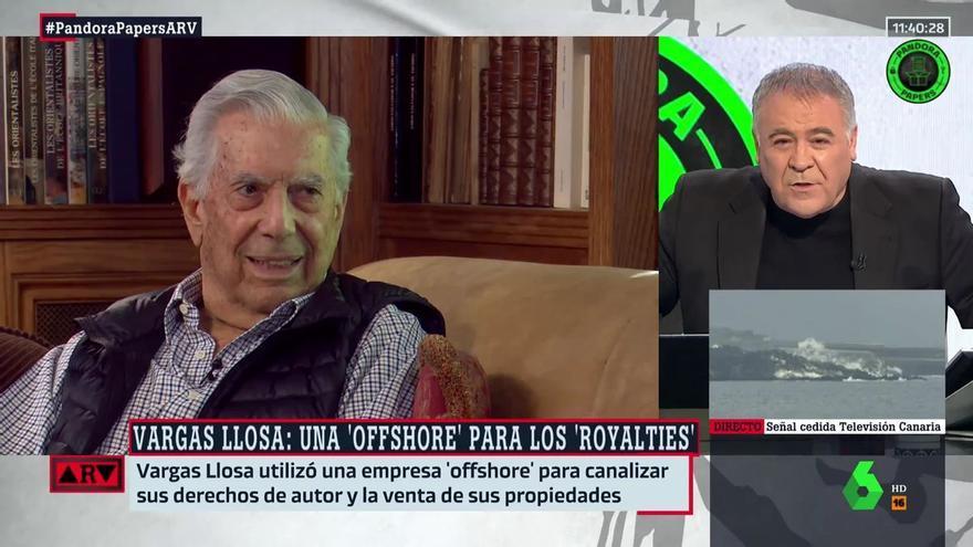 """Ferreras lanza un nuevo mensaje a Vargas Llosa: """"Además de votar libremente, hay que pagar bien los impuestos"""""""