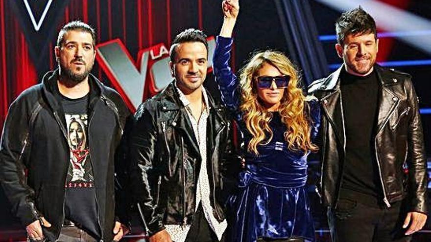 Alejandro Sanz, Juanes y Manuel Carrasco, en la final de 'La Voz'