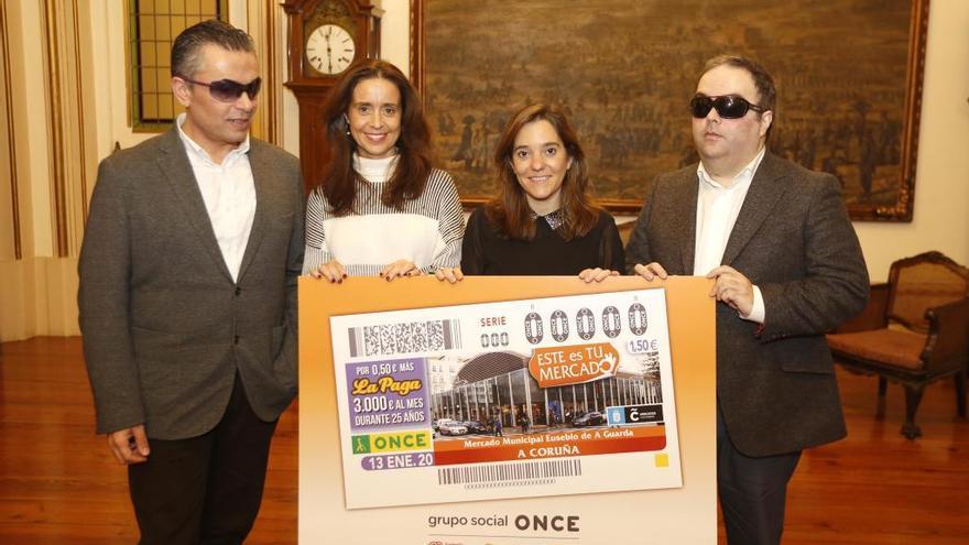 La Once dedica el cupón del 13 de enero al mercado de la plaza de Lugo