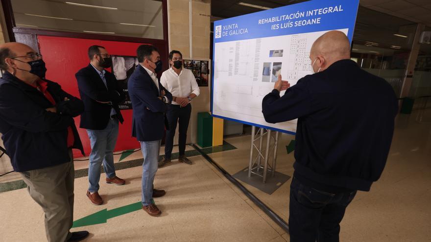 Román Rodríguez anuncia la licitación de la reforma del instituto Luís Seoane de Pontevedra por 750.000 euros