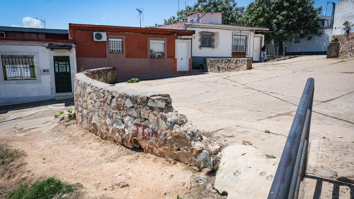 Plaza de las Escuelas, donde tuvo local el tiroteo.