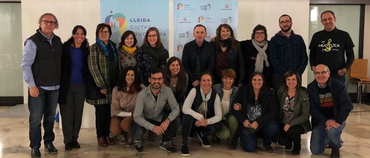 Parte del departamento de Educación en el congreso de Lleida.