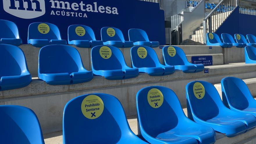 El Atlético Baleares garantiza tres asientos de separación entre sus aficionados en el Estadi Balear
