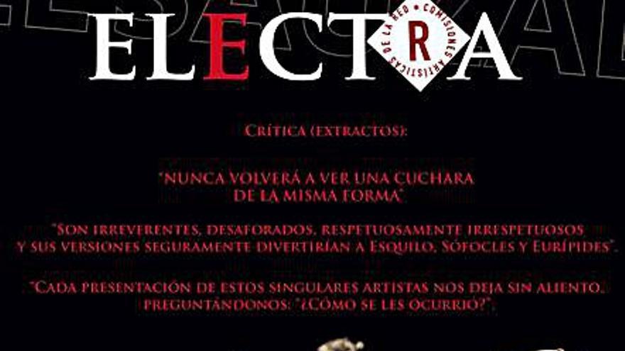 Una versión diferente de 'Electra' llega este fin de semana a El Sauzal