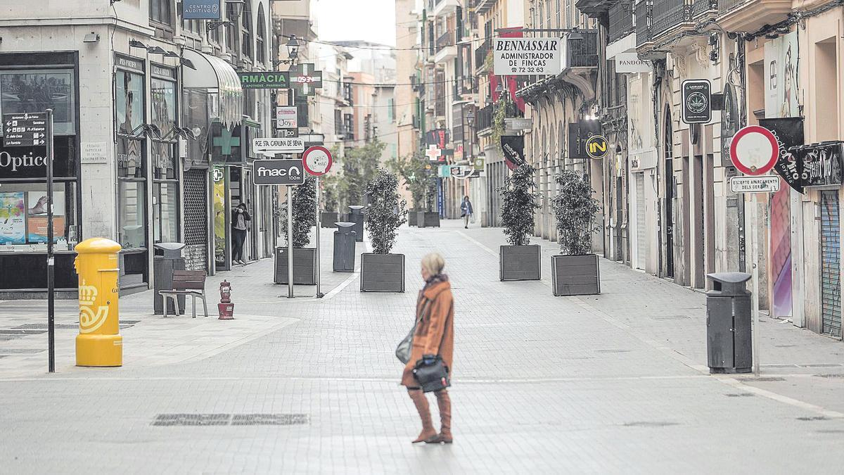 Imagen de una Palma vacía tras decretarse el primer estado de alarma en marzo