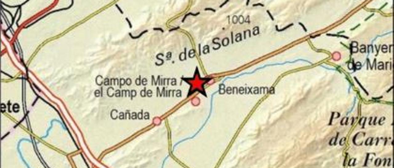 Beneixama registra un seísmo de 2,0 de magnitud