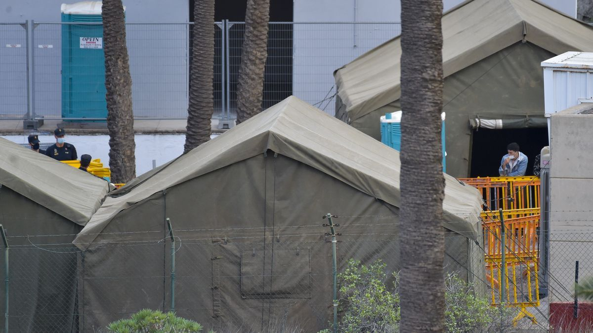 Campamento de migrantes en Barranco Seco