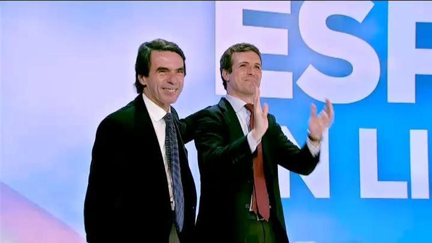 """Aznar insta al PP a """"sumar e integrar"""" una gran mayoría"""