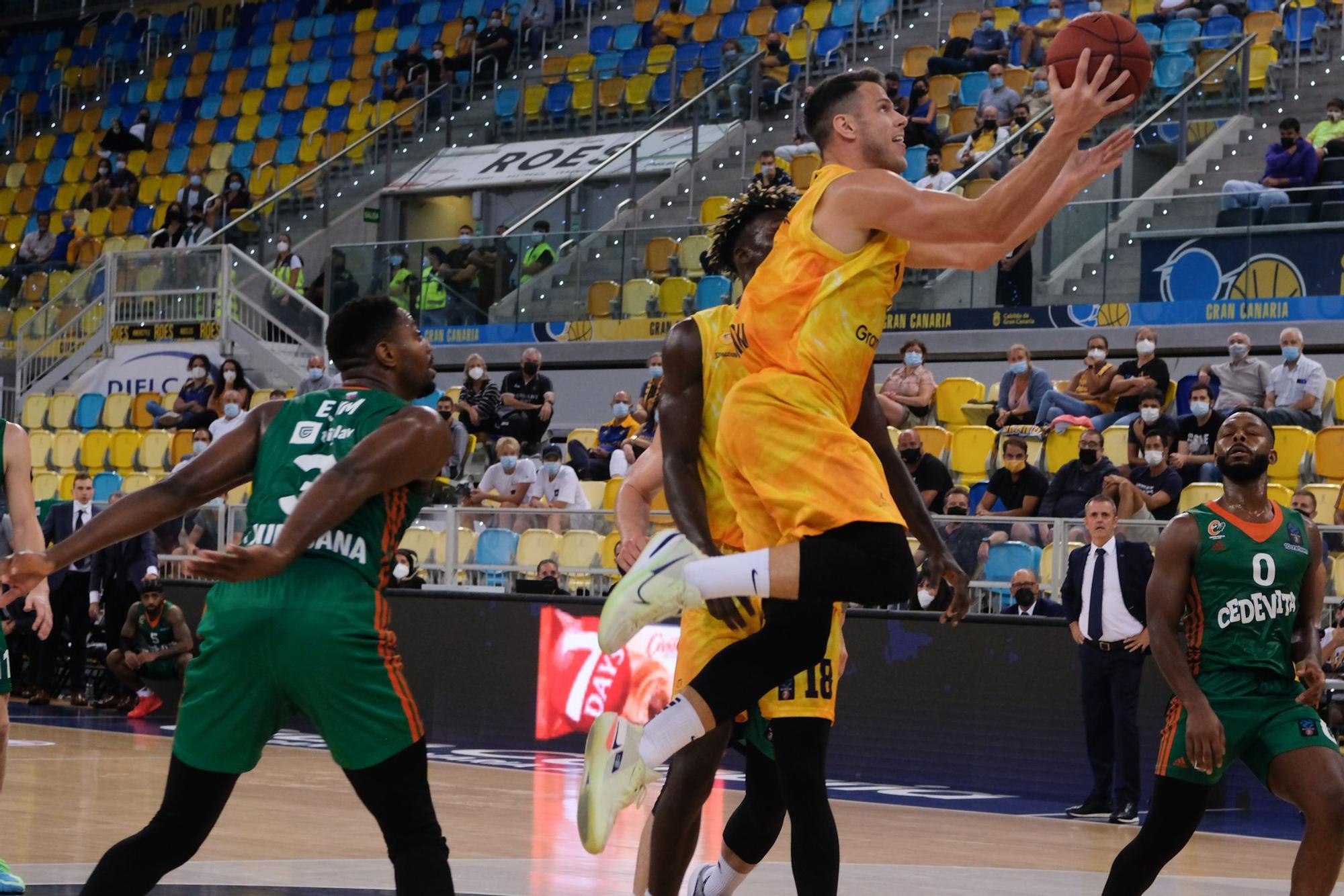 Partido entre el CB Gran Canaria y el Cedevita Olimpija (19/10/2021)