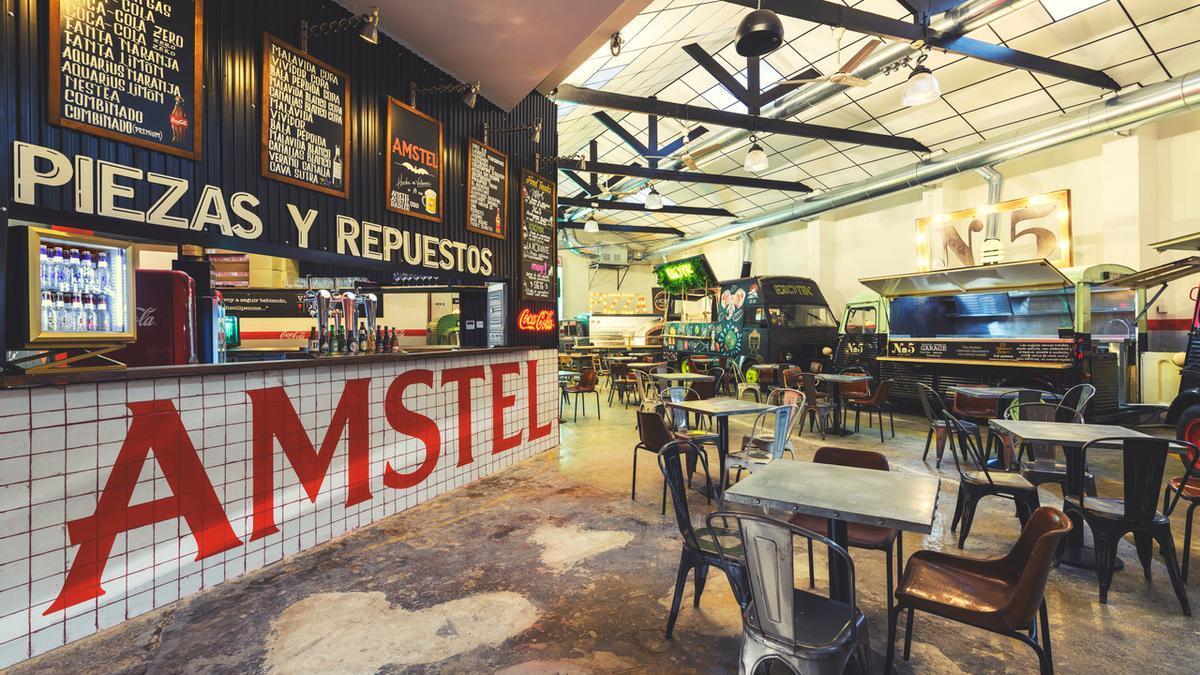 Garaje Street Food, el primer mercado gastronómico de food trucks de España.