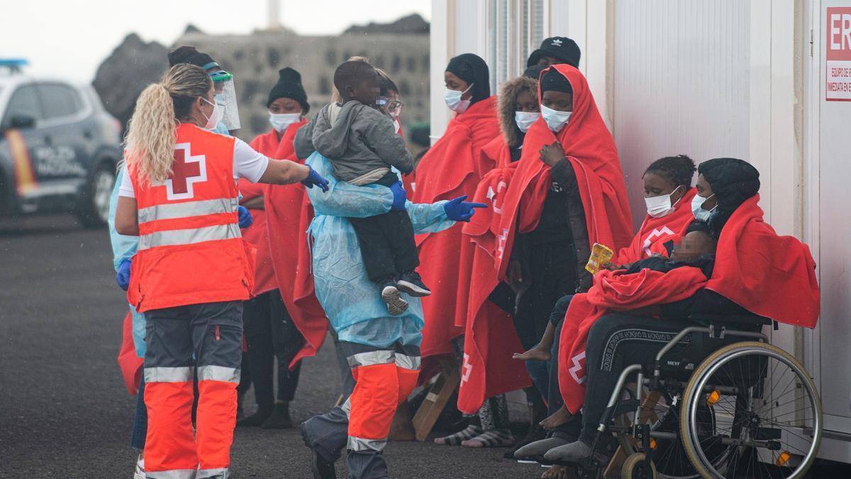 Inmigrantes llegados a Lanzarote en las últimas horas.