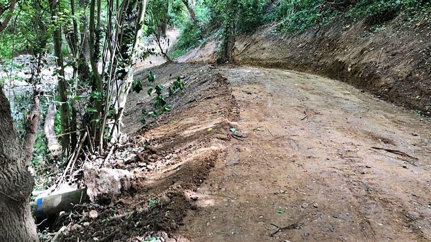 Demanen que s'aturin les millores a l'entorn del riu Manol a Vilafant